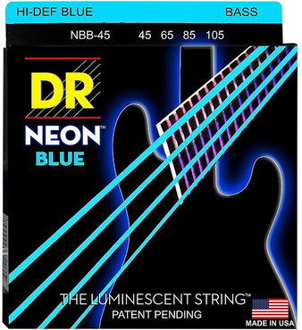DR Bass Hi-Def Neon Blue NBB-45 Medium (45-105) image