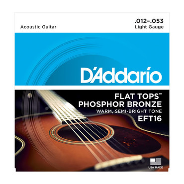 D'Addario Flat Tops Light EFT16 (12-53) image