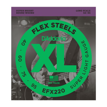 D'Addario FlexSteels Bass Super Light Long Scale EFX220 (40-95) image