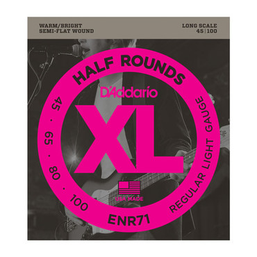 D'Addario Bass Half Rounds Regular ENR71 (45-100) image