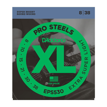 D'Addario ProSteels Super Extraq-Light EPS530 (8-38) image
