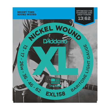 D'Addario Nickel Wound Baritone Light EXL158 (13-62) image