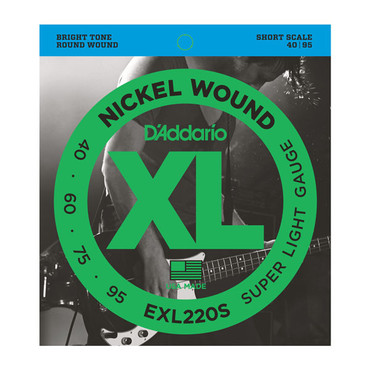 D'Addario Bass Nickel Wound Super Light Short Scale EXL220S (40-95) image