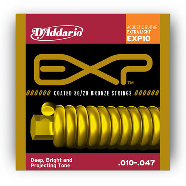 D'Addario Coated 80/20 Bronze Extra Light EXP10 (10-47) image