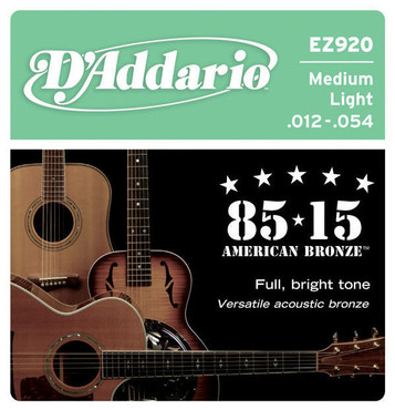 D'Addario Bronze 85/15 Medium Light EZ920 (12-54) image