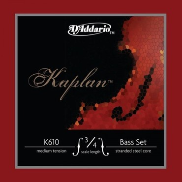 D'Addario Kaplan Double Bass 3/4M Medium K610 image