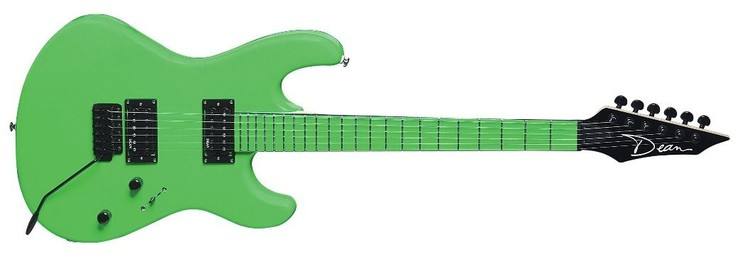 Dean Custom Zone NG Florescent Green image