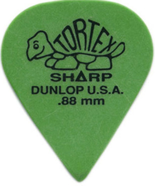 Dunlop 412P.88 Tortex Sharp Green 12 Pack image