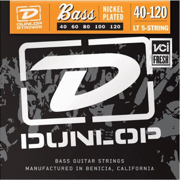 Dunlop Electric Bass Nickel Wound Light 5 String DBN40120 (40-120) image