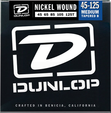 Dunlop Electric Bass Nickel Wound Medium Tapered B 5 String DBN45125T (45-125) image