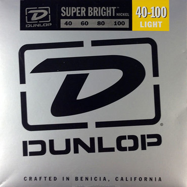 Dunlop Electric Bass Super Bright Nickel Wound Light DBSBN40100 (40-100) image