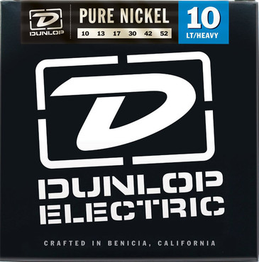 Dunlop Electric Pure Nickel 10's Light Heavy DEK1052 (10-52) image