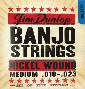 Dunlop Banjo Nickel Medium 5 String DJN1023 (10-23) image