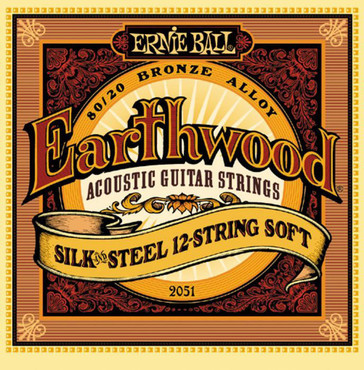 Ernie Ball 2051 Earthwood 80/20 Bronze Silk and Steel 12-String Soft (9-46) image