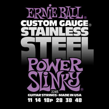Ernie Ball 2245 Stainless Steel Power Slinky (11-48) image