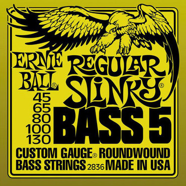 Ernie Ball 2836 Roundwound Bass 5 Regular Slinky (45-130) image