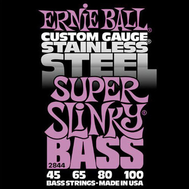 Ernie Ball 2844 Stainless Steel Bass Super Slinky (45-100) image