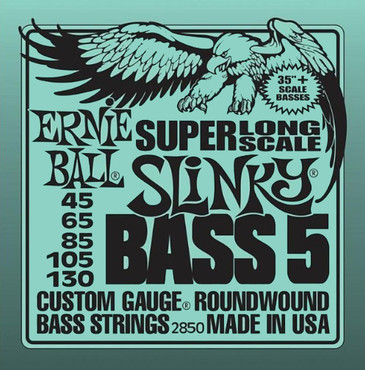 Ernie Ball 2850 Roundwound Bass 5 Slinky Super Long Scale (45-130) image