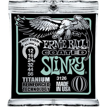 Ernie Ball 3126 Coated Titanium Not Even Slinky (12-56) image