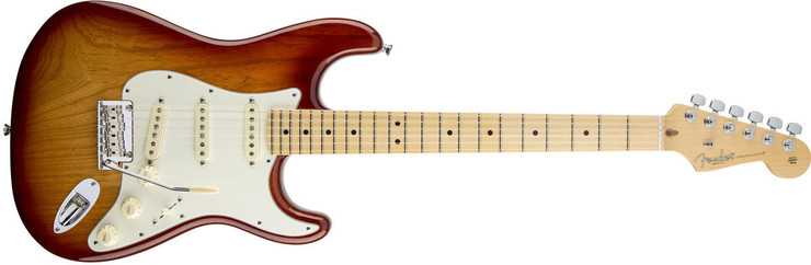 Fender American Standard Stratocaster Maple 3-Color Sunburst image