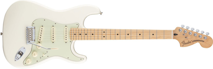 Fender Deluxe Roadhouse Stratocaster Maple Olympic White image