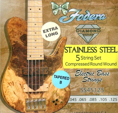 Fodera Steel 45125S-T-XL Tapered B Extra Long (45-125) image