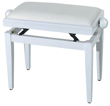 Gewa F900567 Piano Bench White High Gloss image