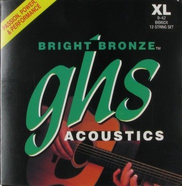 GHS Bright Bronze 12-String Extra Light BB60X (9-42) image