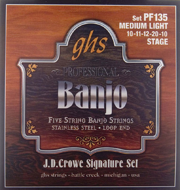 GHS Banjo Stainless Steel 5-String JD Crowe Stage PF135 image
