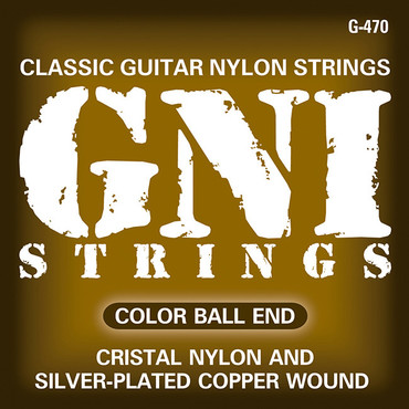 GNI G470 Cristal Nylon and Silver-Plated Copper Wound Ball End image