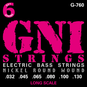 GNI Electric Bass Nickel Round Wound G760 (32-130) image