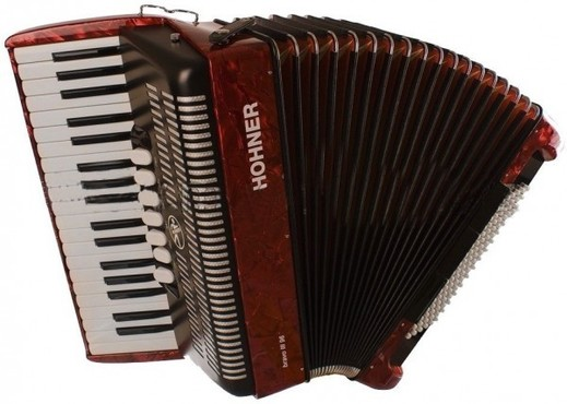 Hohner A1673/4073 Bravo III 96 Red 7/8 image