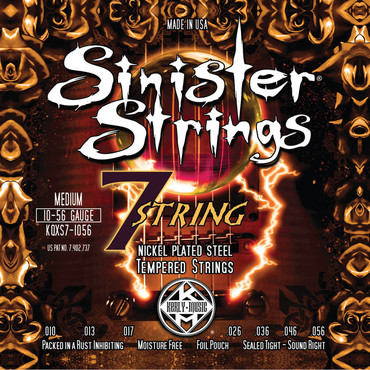 Kerly Sinister 7 Strings Nickel Plated Steel KQXS7-1056 (10-56) image