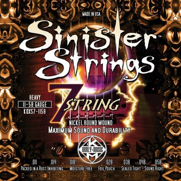 Kerly Sinister 7 Strings Nickel Plated Steel KQXS7-1158 (11-58) image