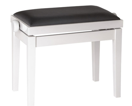 K&M Piano Bench Wooden Frame White Gloss 13711-000-23 image