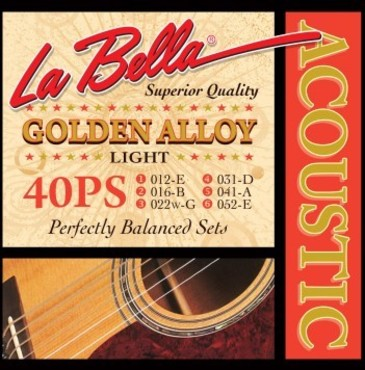 La Bella Acoustic Golden Alloy Light 40PS (12-52) image