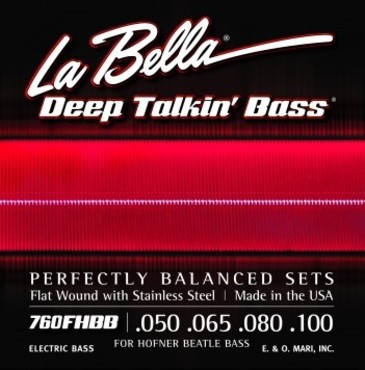 La Bella Deep Talking Bass Beatle Stainless Steel Flat Wound 760FHBB (50-100) image