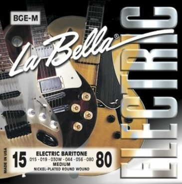 La Bella Electrics Nickel Plated Round Wound Baritone Medium BGE-M (15-80) image
