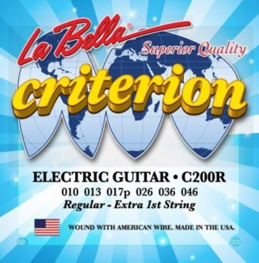 La Bella Criterion Electric Guitar Regular C200R (10-46) image