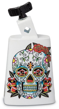 Latin Percussion LP204C-SS Collect-A-Bell Black Beauty Sugar Skull image