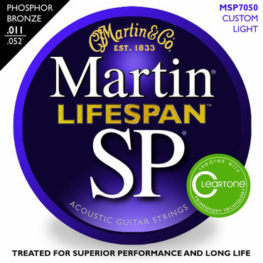 Martin SP Lifespan Phosphor Bronze Custom Light MSP7050 (11-52) image