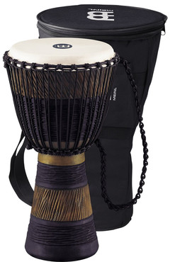 Meinl African Rope Tuned Wood Djembe Earth Rhythm 12'' ADJ3-L+BAG image
