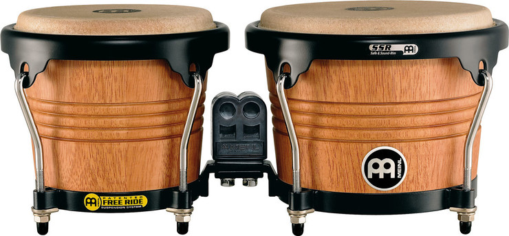 Meinl Free Ride Wood Bongo Super Natural Mate FWB190SNT-M image