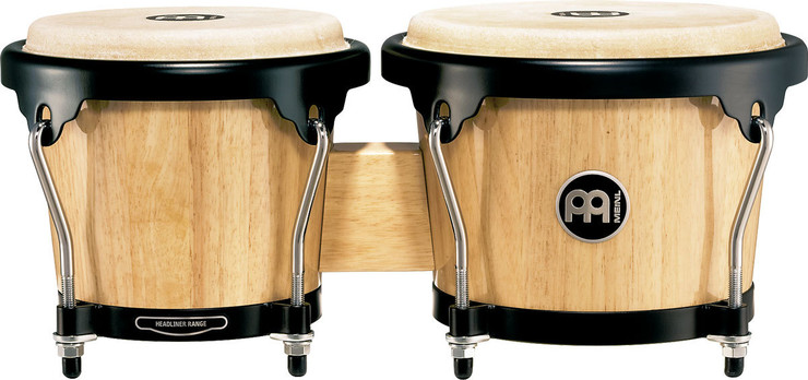 Meinl Headliner Wood Bongos Natural HB100NT image