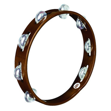 Meinl Traditional Wood Tambourine Aluminum Jingles TA1A-AB image