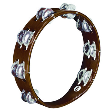 Meinl Traditional Wood Tambourine Aluminum Jingles TA2A-AB image
