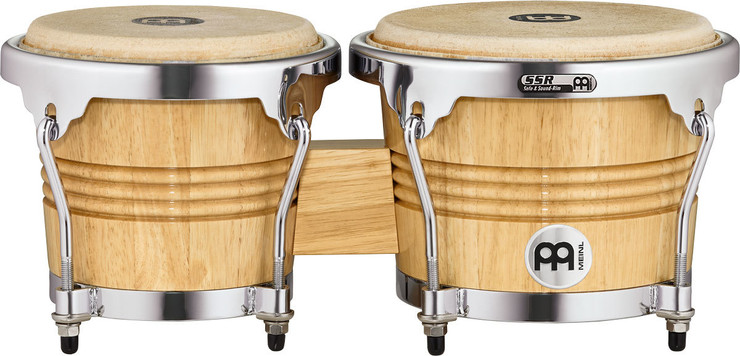 Meinl Wood Bongo Chrome Plated WB200NT-CH image