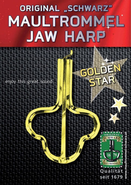 Gewa 844960 Original Schwarz Jew's Harp Golden Star 82 mm, No. 15 image