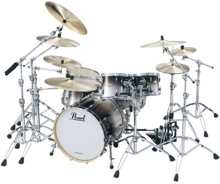 Pearl Masters MCX-924FP/C363 Black Sparkle Fade image