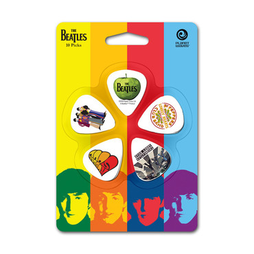 Planet Waves Beatles Guitar Picks, Albums, 10 pack, Thin 1CWH2-10B3 image